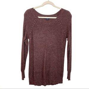 AEO Marled Purple Tunic Sweater Women's M 3/$25